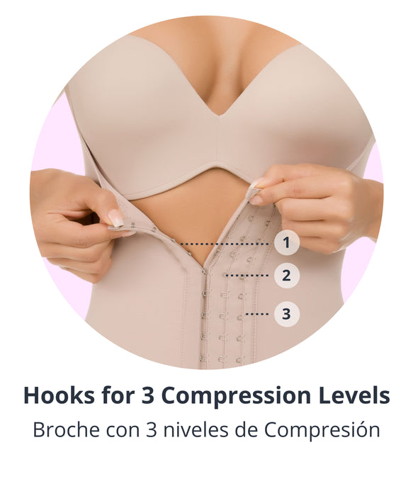 479 - Open-Bust Back Support Compressive Body Shaper