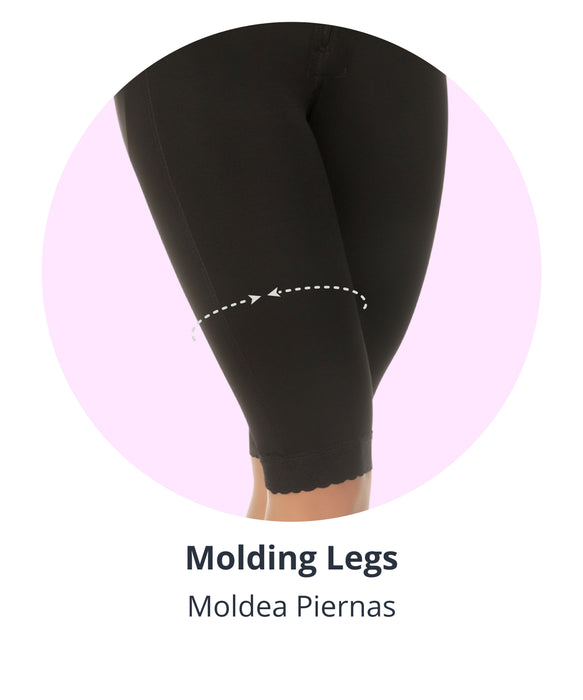 full body shaper with leg shaping compression