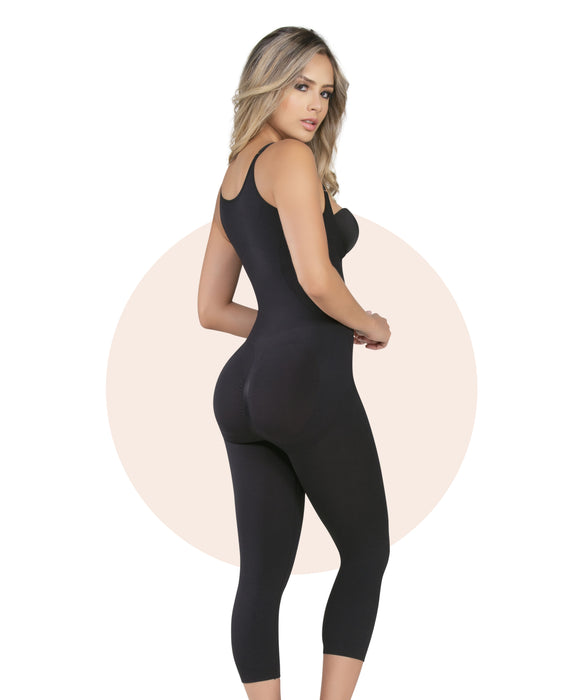 1586 - Seamless Targeted Compression Slimming Thermal Bodysuit