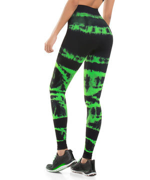 929 - Ultra Compression and Abdomen Control Fit Legging  Neon Green
