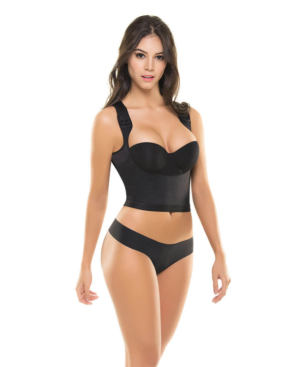 616 - Ultra Flex Push-Up Compressive Open-Bust Top Shaper