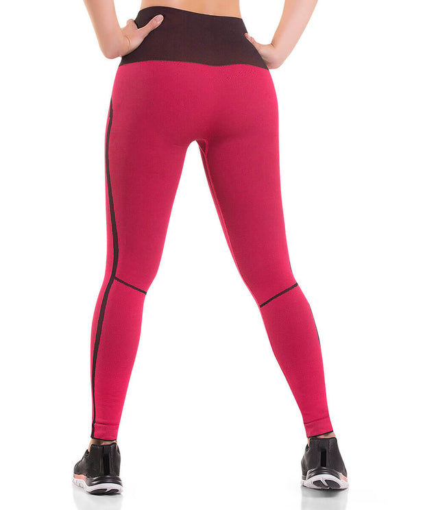 904 – Ultra Compression and Abdomen Control Fit Legging Coral