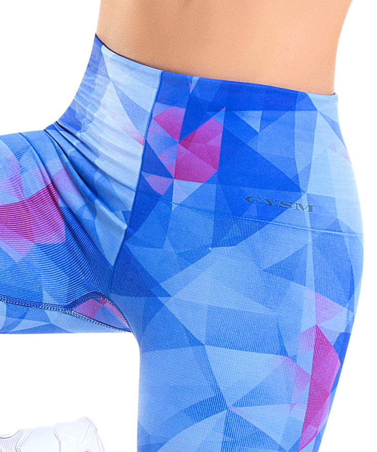 921 - Ultra Compression and Abdomen Control Fit Legging Crystal Blue