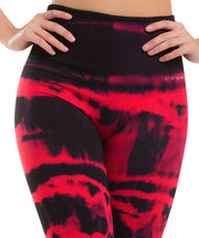 930 – Ultra Compression and Abdomen Control Fit Legging Crimson Red