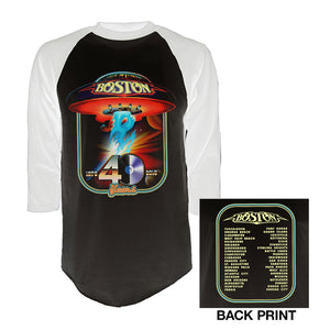 40th Anniversary Raglan T-Shirt-Boston