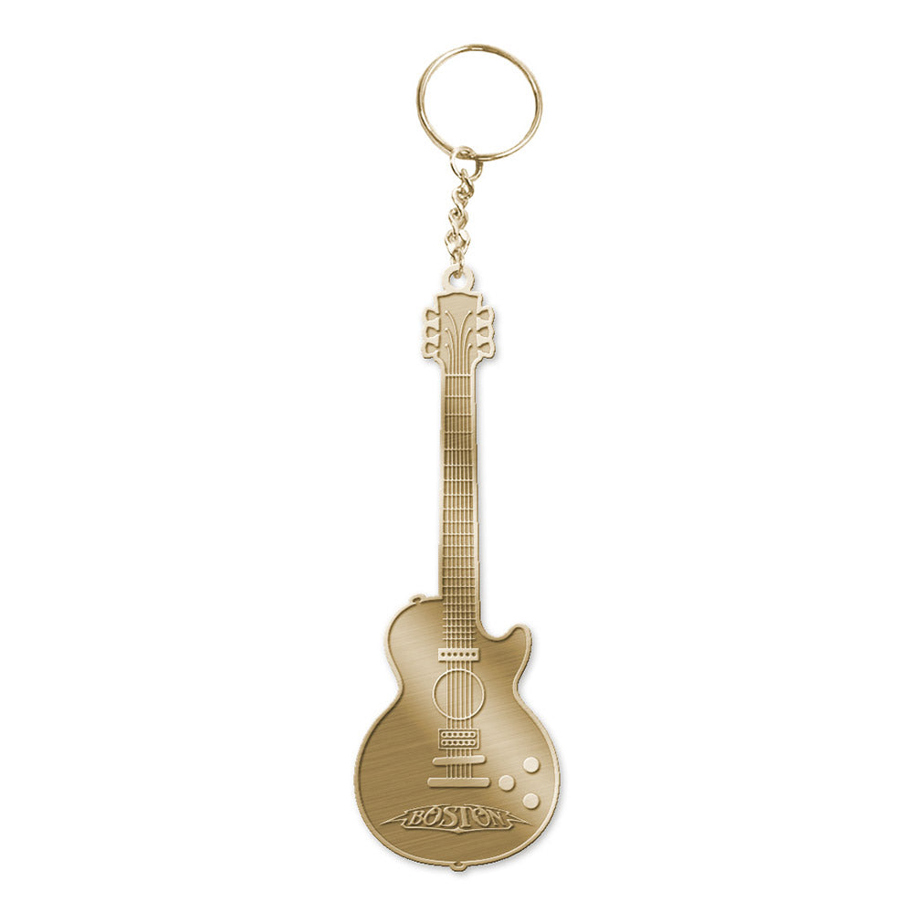Boston Guitar Keychain-Boston