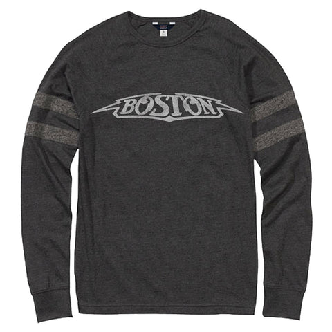 Boston Logo Long Sleeve Crew T-Shirt-Boston