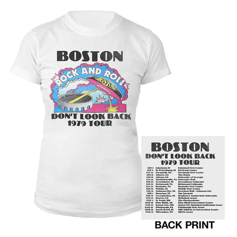 Don't Look Back Vintage Tour Women's T-Shirt-Boston