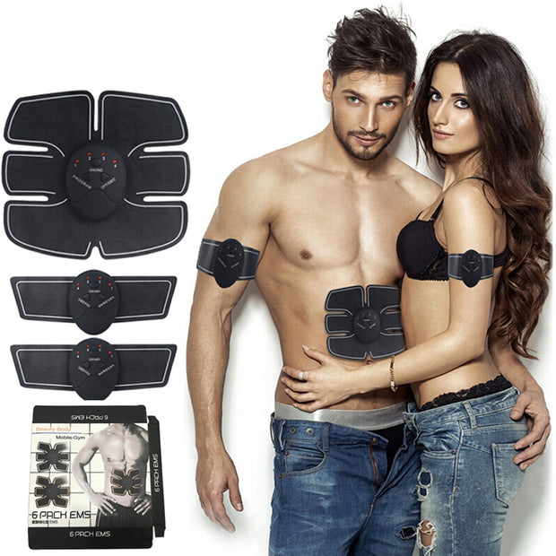 Muscle Stimulator Body Slimming Shaper Machine Abdominal Muscle Exerciser Training Fat Burning Body Build Fitness dropshipping