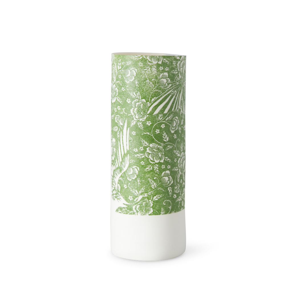 Illuminator Vase Tall Green Bird Butterfly