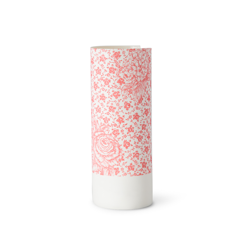 Illuminator Vase Tall Pink Big Rose Small Rose