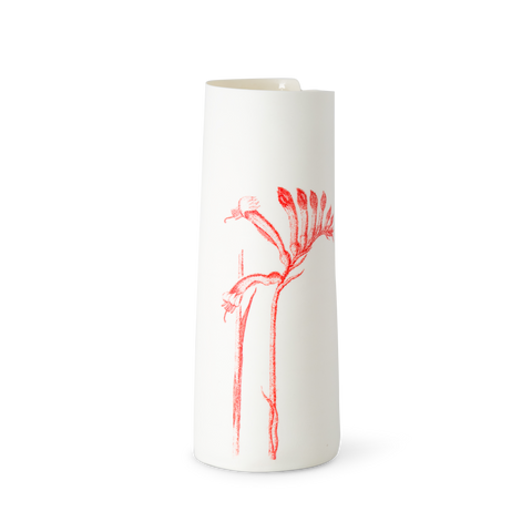 Illuminator Vase Tall Red Kangaroo Paw