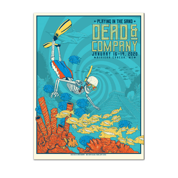 PLAYING IN THE SAND SKELETON DIVER POSTER-Dead & Company