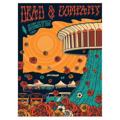 2019 The Forum Los Angeles Exclusive Event Poster-Dead & Company