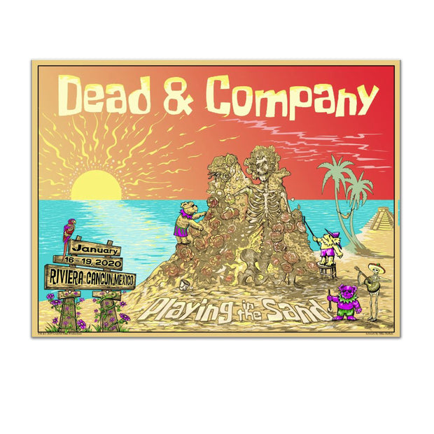 Playing In The Sand Castles Exclusive Event Poster-Dead & Company