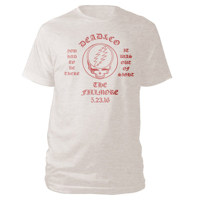 The Fillmore, San Francisco, CA Exclusive Event Tee Tan-Dead & Company