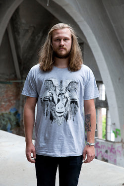 Hot Cheese Crew -  Baphomet Tee Grey