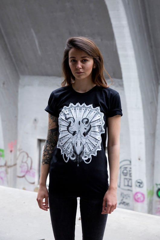 Hot Cheese Crew -  Triceratops Tee Black