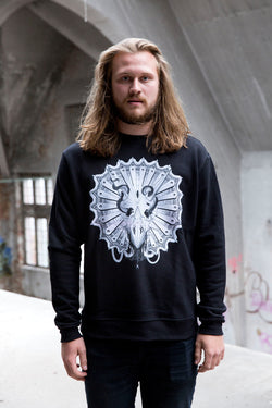 Hot Cheese Crew -  Triceratops Sweater Black