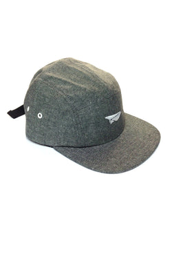 Benny Gold - Paper Plane Logo Chambray 5 Panel - Black