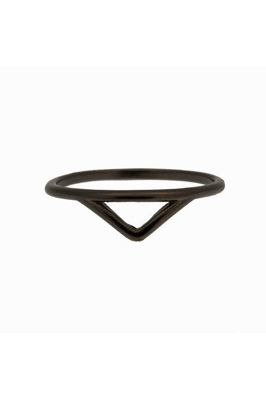MINT - Small triangle ring - matt black