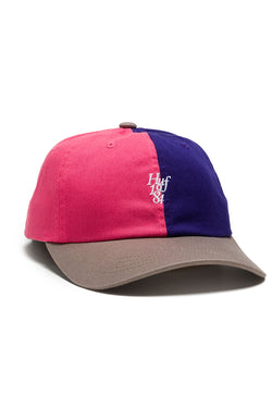 HUF - COUNTRY CLUB CURVE VISOR 6 PANEL CAP - PURPLE