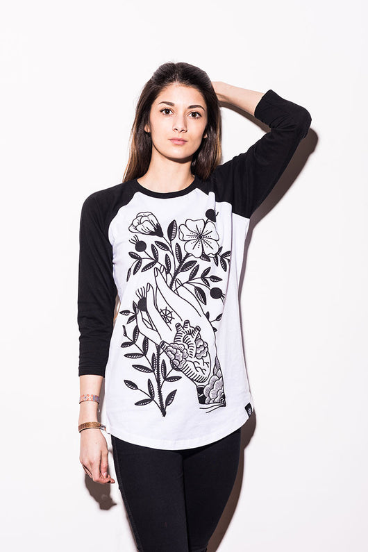 Abandon Ship Apparel – WILD ROSES 3/4 Raglan