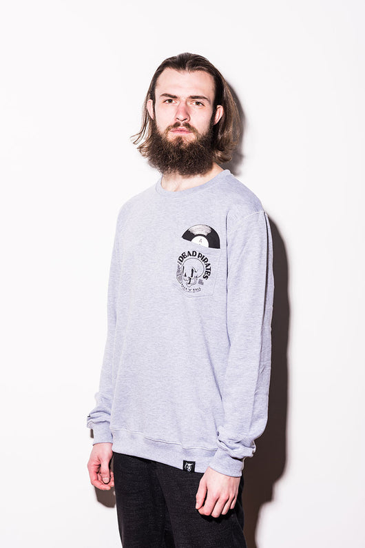 Dudes Factory – LP Sweatshirt - Light Grey