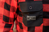 Turbokolor - Tns Flannel Shirt red/black - Men Hemd