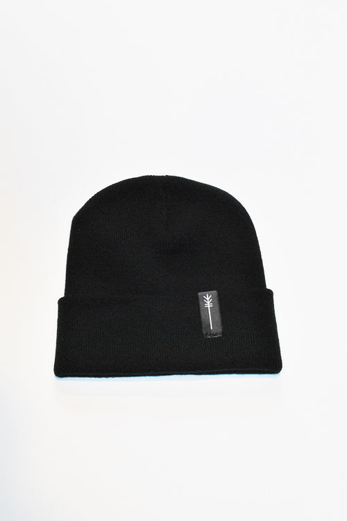 HOT CHEESE CREW - ARROW PATCH BEANIE - BLACK