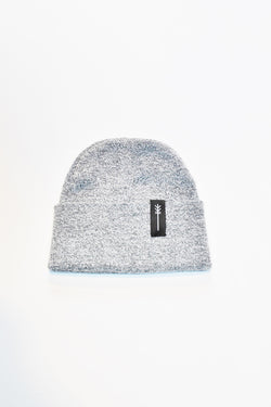HOT CHEESE CREW - ARROW PATCH BEANIE - HEATHER GREY