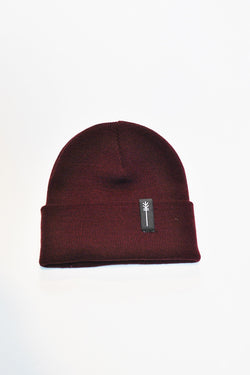 HOT CHEESE CREW - ARROW PATCH BEANIE - BURGUNDY