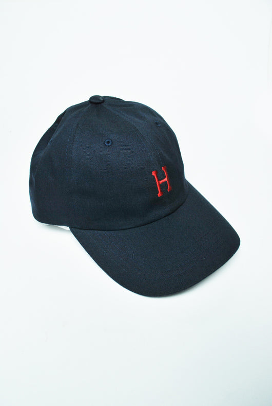 HUF - classic H curved visior - Navy/Red