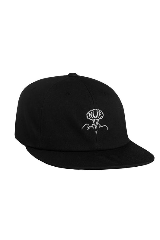 HUF - ERUPTION 6 PANEL CAP - BLACK