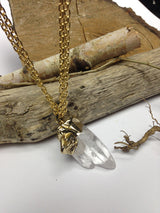 EwelinaPas – handmade Celadonite Quartz Point Necklace/ Gemstone Necklace/ Mineral Necklace/ Mineral Natural Stone Pendant