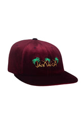 HUF - JAMAICA 6 PANEL CAP - BURGUNDY