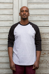 HUF - T-Shirt Triple Triangle Raglan - black heather