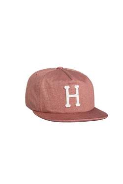 HUF - Claccic H 6 Panel Cap- Denim red