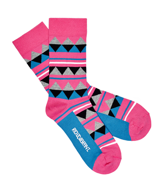 RICH AND VIBRANT - IDENTITY CREW SOCKS