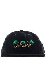 HUF - JAMAICA 6 PANEL CAP - BLACK