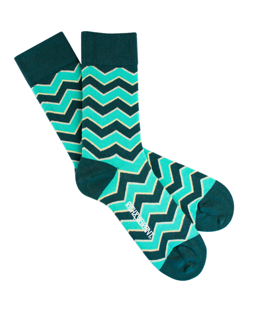 RICH AND VIBRANT - MINTY CREW SOCKS