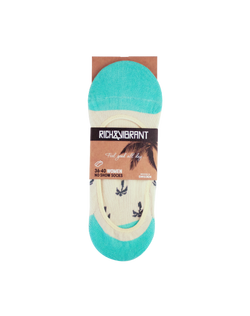 RICH AND VIBRANT - PALM TREE NO SHOW SOCKS