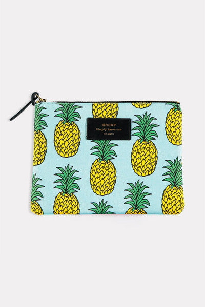 WOOUF - PINEAPPLE LARGE POUCH
