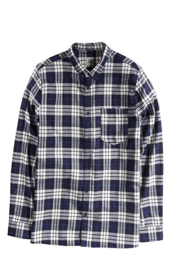 CLEPTOMANICX - HEMD PLAID DARK NAVY