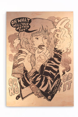 Kirsten Rothbart - Opfer Woodprint