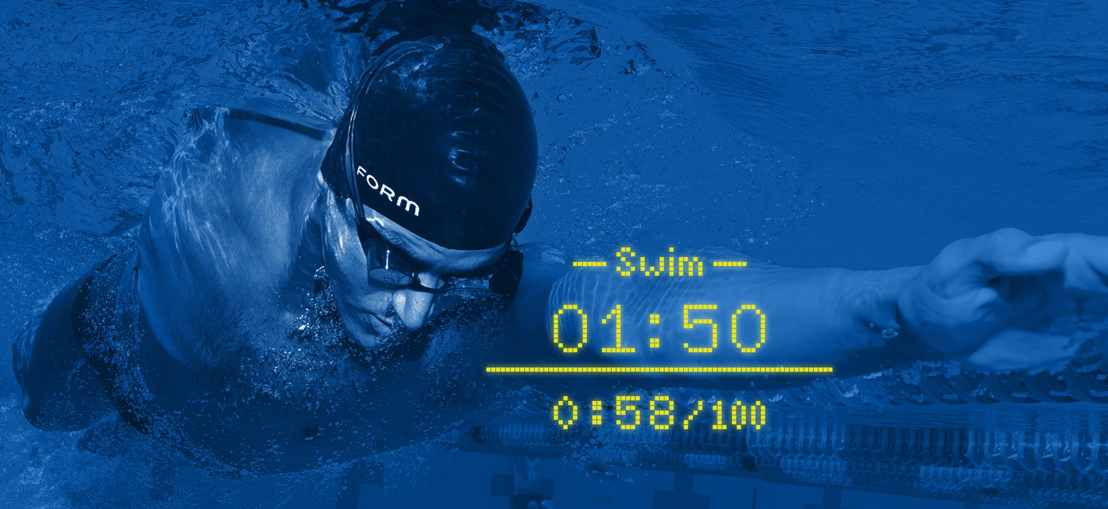 Make the most of seeing your metrics during your swim with FORM swim goggles.