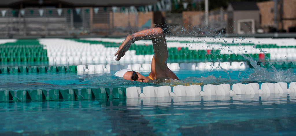 Swimmer breathing to their left side