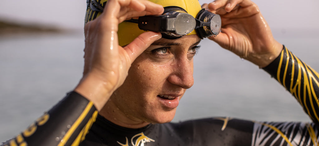 Swim open water with FORM Goggles
