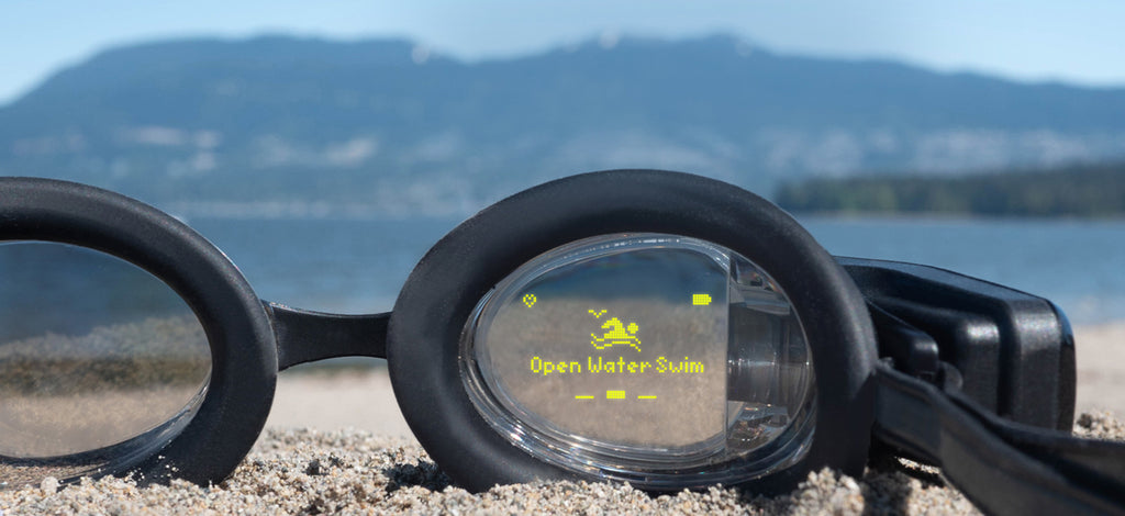 Swim openwater with the FORM Smart Swim Goggles