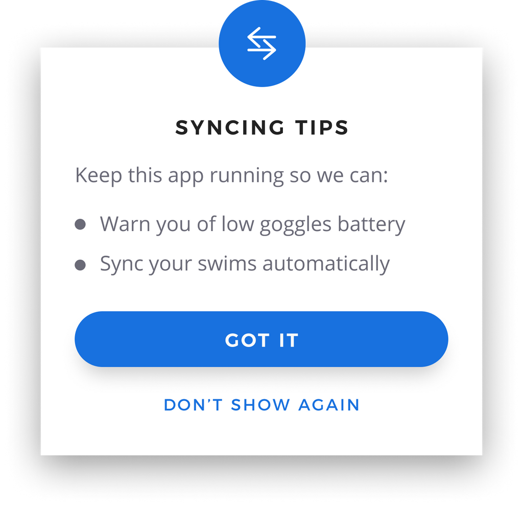 Syncing Tips in App Notification Graphic